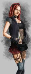 Portrait of Kerstin by Dinoforce