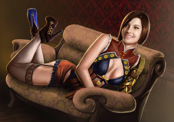 Lady Valerie on Sofa by Dinoforce