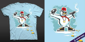 gangsta snowman by grazrootz