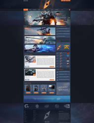 Gaming template - FOR SALE by pdesign97
