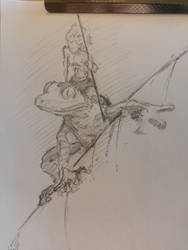 Reddits r/DailyDraw:Frogs - The little people by ChalidDraws