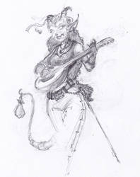 Tiefling Bard for /r/Characterdrawing by ChalidDraws