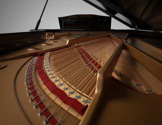 Grand Piano Interior by Protozoon75