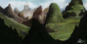 Fantasy Landscape by Concept-Cube