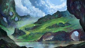 The Elloron Marshlands by Concept-Cube