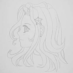 Female Side-View Sketch by Dmfeldman