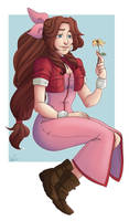 EmzCommission:Aerith by EmzRoze