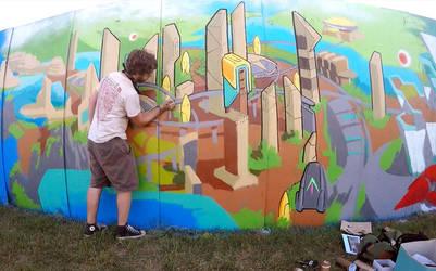 Bonnaroo 2015 VERDACOMB Mural by danomano65