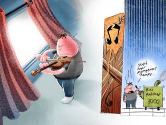Mr. Krupp's masterful violin skills by SilentCartoonist