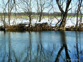 Winter River by jim88bro