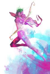 Mystic Archer by BlueTwin