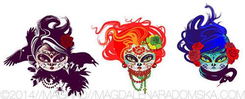 sugar_skull_dolls by Magrad