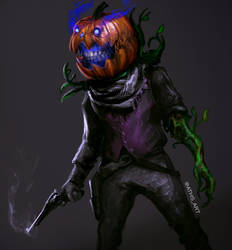 Pumpkin Gunslinger by Aths-Art