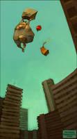 paperbag parachute by loish