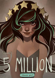 5 million: thank you by loish