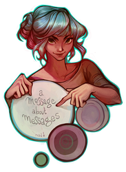 a message about messages by loish