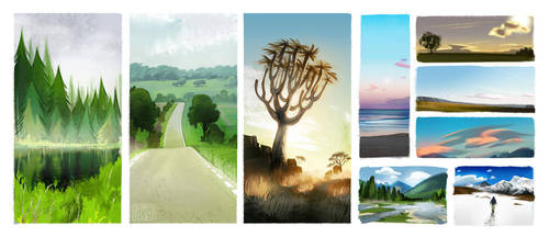 landscapes by loish