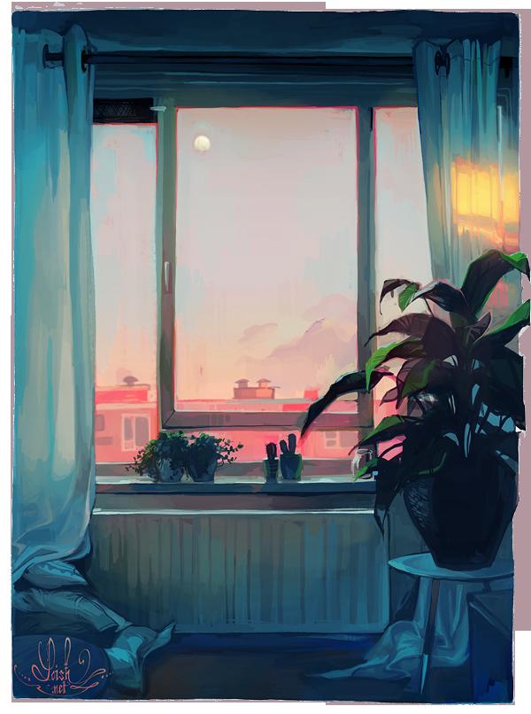 sunset by loish