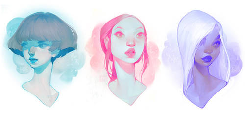 visages by loish