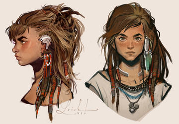 Aloy - Horizon Zero Dawn - 3 by loish