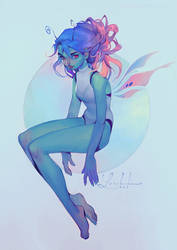 butterfly girl v2 by loish