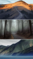 murder mountain studies by loish