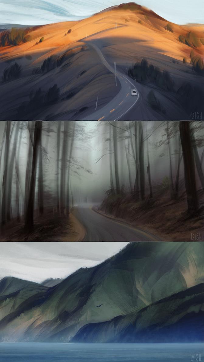 murder mountain studies by loish