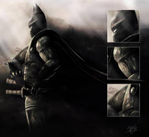 Samurai Batman + close-ups by YuSePe