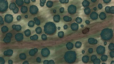 Tabletop RPG Combat Map (Roadside Encounter 1) by RiddleJacks