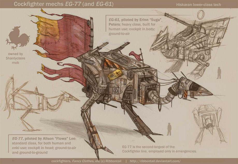 Cockfighter EG-77 concept by Ribbontail