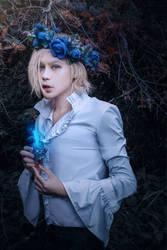 Blue rose by Crimson-Shad