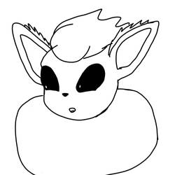 Badly Drawn Flareon by ponyoftrees