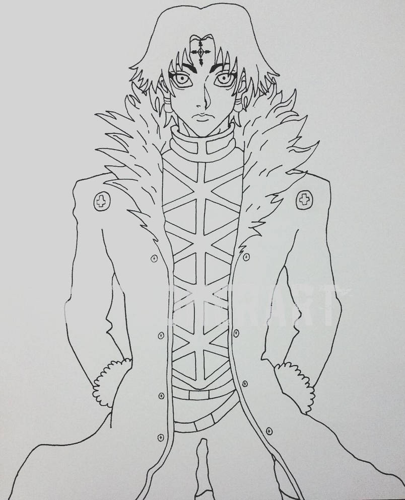 Chrollo Wip by toonerart
