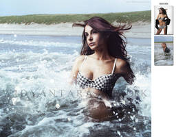 the girl go swim by Widyantara