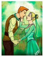 Faylen Mahariel and Alistair by Blueberry-me