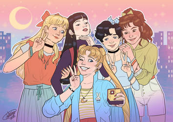 Sailor Scouts by Blueberry-me