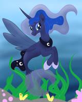 Princess Luna Seapony by Scraleos
