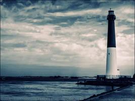 Barnegat Lighthouse Bi-Color by mydigitalmind