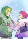 Zelda and Link by UsaPeacee