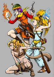Chrono Trigger Girls by RenzoG