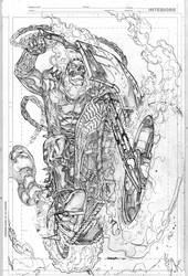 Ghost Rider Commission by Kevin-Sharpe