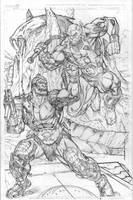 Panthro vs Trapjaw by Kevin-Sharpe