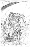 Superman  new 52 pencils sharpe by Kevin-Sharpe