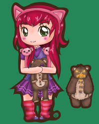 Annie Chibi Tibbers: League of Legends by iAmSprFstJellyfish