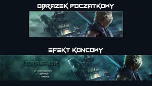 Final Fantasy VII Youtube Banner by Vanites