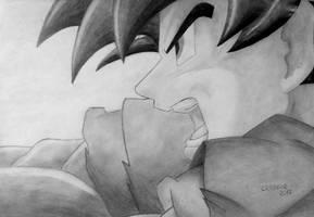 Super Saiyan God Goku by Vanites