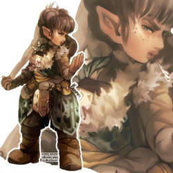 Ginny the Arctic Halfling Druid by Prochaine