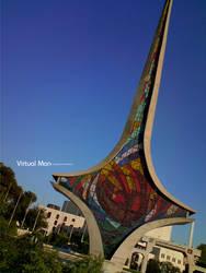 Damascus Sword by Virtual-Man