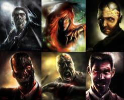 BATMAN ART: Arkham Portraits by lukemandieart