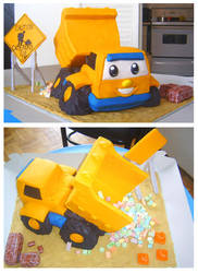 Dump Truck cake by Cakerific
